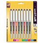 Uni-Ball Vision Needle Roller Ball Stick Liquid Pen, Assorted Ink, Fine, 8/Set