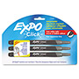 Expo® Click Dry Erase Markers, Fine Tip, Black, 3/Pack