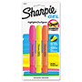 Sharpie® Accent Gel Highlighter, Smear Block, 3/Pack, Assorted