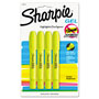Sharpie® Gel Highlighter, Bullet Tip,Yellow, 4/Pk