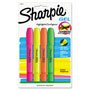 Sharpie® Gel Highlighter, Bullet Tip, Assorted Colors, 4/Pk