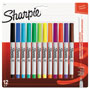 Sanford Permanent Markers, Ultra Fine Point,, Assorted Colors, 12/Pack