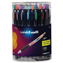 Uni-Ball Signo 207 Retractable Gel Pen, Assorted Ink, 0.7mm, 36/Set