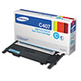 Samsung CLTC407S (CLT-C407S) Toner, 1,500 Page-Yield, Cyan