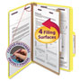 Smead Four Section Pressboard Classification Folders, Legal, Yellow, 10/Box