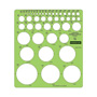 "Staedtler Combo Circle Template, 7 1/4 x 8 1/4, 45 Circles to 2 1/4"", Green"