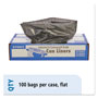 "Stout Recycled Brown Trash Bags, 33 Gallon, 1.3 Mil, 33"" X 40"", Case of 100"