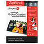 Swingline ZipBind Prepunched Photo Size Cover Set, 4 x 6, Clear/Black, 2 Sets/Pack