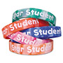 Teacher Created Resources Two-Toned Star Student Wristbands, Assorted Colors, 10/Pack