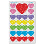 Trend Enterprises Sparkle Heart Stickers, Non-Toxic, 100/CT, Assorted