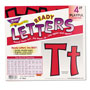 "Trend Enterprises Ready Letters Playful Combo Set, Red, 4""h, 216/Set"