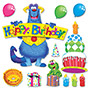"Trend Enterprises Furry Friends Birthday Fun Bulletin Board Set, 17 1/2"" X 25 1/2"""
