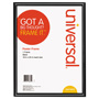 Universal Glossy Black Poster Frame, 18 x 24