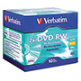 Verbatim DVD RW Rewritable Disc, DataLifePlus, Jewel Case, 4.7 GB, Matte Silver, 10/Pack