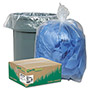 Webster Webster Recycled Clear Trash Bags, 33 Gallon, 1.25 Mil, Carton of 100