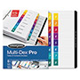 Wilson Jones Multidex Index Tabs, Multicolor