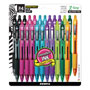 Zebra Ball Point Pen, Ret, Medium Pt, 1.0mm, 24/PK, Multi Barrel/Ink