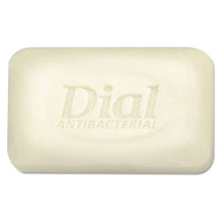 Dial Antibacterial Deodorant Bar Soap, Unwrapped, White, 2.5oz, 200/Carton