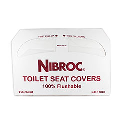 Nibroc Half Size Toilet Seat Covers