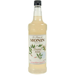 Monin Frosted Mint Drink Syrup, 1 Liter