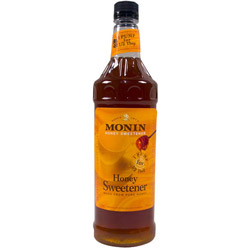Monin Honey Liquid Drink Syrup, 1 Liter