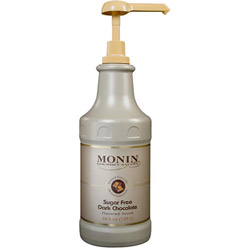 Monin Sugar-Free Dark Chocolate Drink Syrup, 64 Oz.