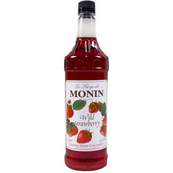 Monin Wild Strawberry Drink Syrup, 1 Liter
