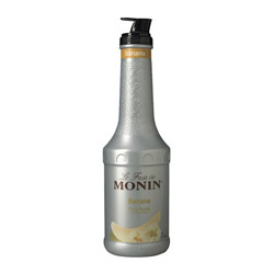 Monin Banana Puree Fruit Puree, 1 Liter