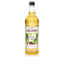 Monin French Vanilla Drink Syrup, 1 Liter