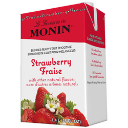 Monin Strawberry Fruit Smoothie Mix