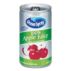 Ocean Spray 100% Juice, Apple, 5.5 oz Can