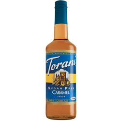 Torani® Caramel Classic Syrup Sugar Free PET, 750 mL