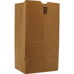 Duro Squat Paper Grocery Bags, Extra Heavy-Duty, 25#, Natural