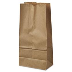 GEN #16 Paper Grocery Bag, 40lb Kraft, Standard 7 3/4 x 4 13/16 x 16, 500 bags
