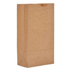 GEN #10 Paper Grocery Bag, 35lb Kraft, Standard 6 5/16 x 4 3/16 x 13 3/8, 500 bags