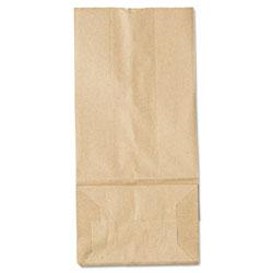 GEN #5 Paper Grocery Bag, 35lb Kraft, Standard 5 1/4 x 3 7/16 x 10 15/16, 500 bags