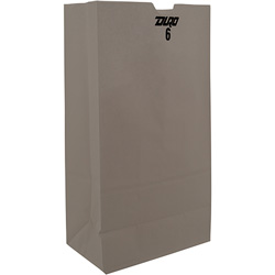 Duro Paper Grocery Bags, 6#, Bleached