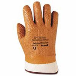 Ansell Vinyl Gloves, 10, Orange