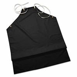Ansell CPP Supported Aprons, 35 in x 45 in, Black