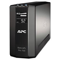 APC BR700G Back-UPS Pro 700 Battery Backup System, 6 Outlets, 700 VA, 355 J