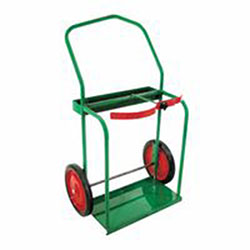 Anthony High-Rail Frame Dual-Cylinder Cart, For 9.5in-13.5in dia., 14in Solid Rubber Wheels