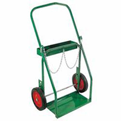 Anthony Low-Rail Frame Dual-Cylinder Cart, For 8in-8.5in dia., 10in Solid Rubber/Steel Rim