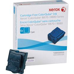 Xerox 108R00950 Solid Ink Stick, 17300 Page-Yield, Cyan, 6/Box