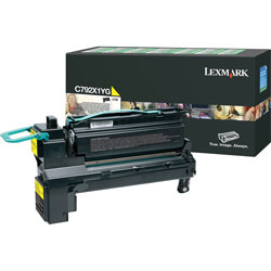 Lexmark Yellow Toner Cartridge for C792 X792 Extra High Yield