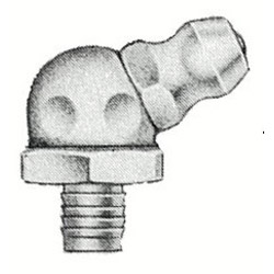 """Alemite 65 Degree Drive Grease Fitting, 45/64"""" Long"""
