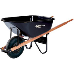 True Temper 6cu.ft. Steel Tray Contractor Wheelbarrow