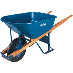Jackson Tools 6cu.ft. Steel Tray Contractor Wheelbarrow