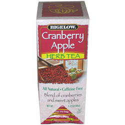 R C Bigelow Cranberry Apple Herbal Tea