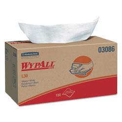 WypAll* L30 Towels, POP-UP Box, 10 x 9 4/5, White, 120/Box, 10 Boxes/Carton