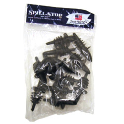 Spill-Stop Manufacturing Company Medium Black Plastic Pourer